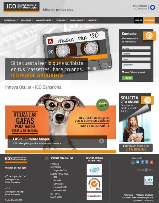 Innova Ocular ICO Barcelona; www.icoftalmologia.es; sello WMA; Dr. David Andreu
