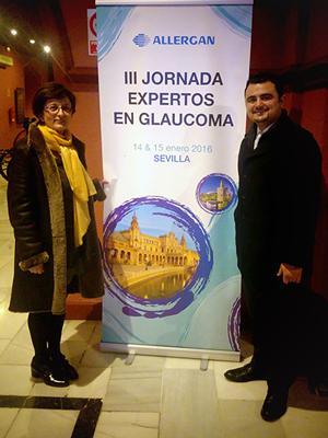 2016 01 22 Los doctores Vendrell y Arciniegas en el III Encuentro de Expertos en Glaucoma