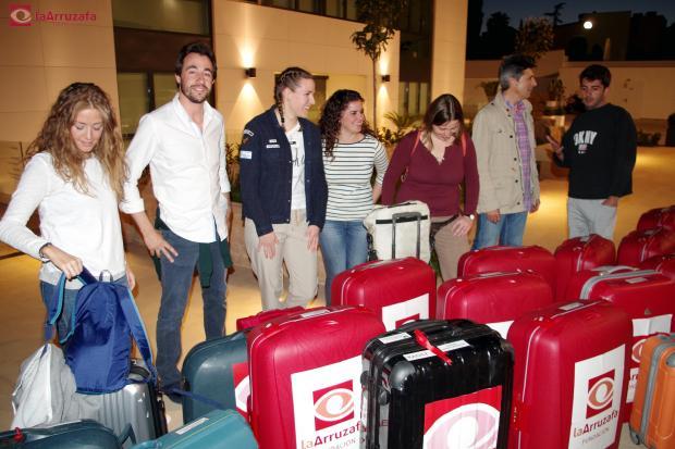Los miembros de la expedición, en Innova Ocular La Arruzafa, antes de partir hacia Benin