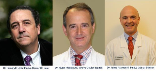 Dr. Soler Villarubia. Dr. Mendicute y el Dr. Aramberri