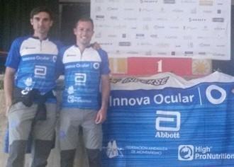 Antonio Herrera y Daniel García el domingo en Livigno