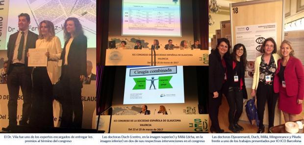 Dr. Jorge Vila; Dra. Susana Duch; Dra. Djavanmardi; Dra. Elena Millá; Dra. Mingonrance; Dra Piludu; IO ICO Barcelona; IO Clínica Vila