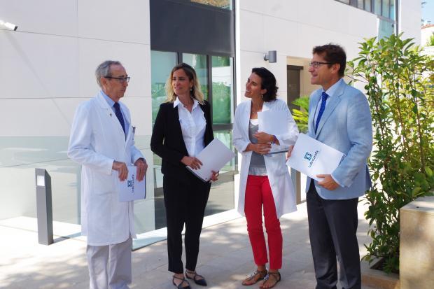 Dr. Juan Manuel Laborda, Eva Sacristán, Belén Cano y Rafael Agüera, Innova Ocular La Arruzafa
