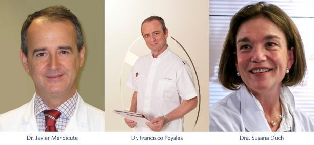 Dr. Javier Mendicute, Dr. Francisco Poyales, Dra. Susana Duch