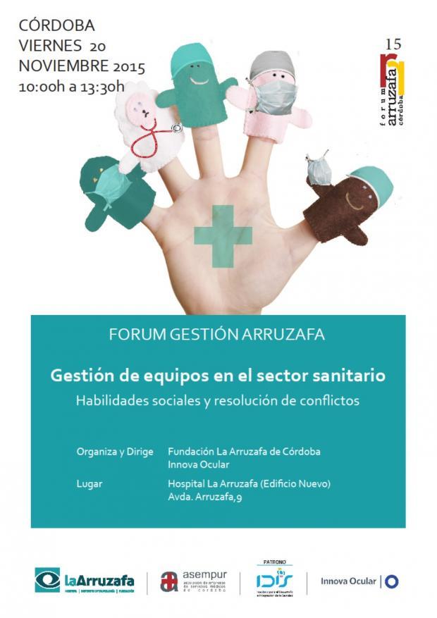 Cartel Fórum Gestión Arruzafa 2015