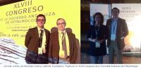 Dr. Antonio Cubero; Dr. Juan Manuel Laborda; Dra. Beatriz Oyarzabal; Dr. Lorenzo Trujillo; Innova Ocular La Arruzafa; Innova Ocular Virgen de Luján; XLVIII congreso de la Sociedad Andaluza de Oftalmología