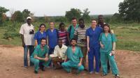 Los integrantes de la expedición de Fundación La Arruzafa en Benin