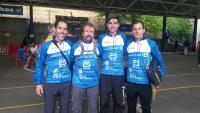 De Izq a Derecha: Ivan  Ortiz, Pedro Gamez, Antonio Herrera y Daniel García antes de iniciar la carrera del Sabado