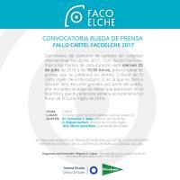 Convocatoria RUEDA DE PRENSA Concurso carteles FacoElche 2017