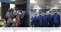estudiantes asistieron a consultas e intervenciones quirúrgicas de la mano de los especialistas de la clínica canaria