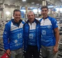 Daniel García, Pedro Gámez y Antonio Herrera, en Italia