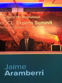 el r aramberri minutos antes de su intervencion en la 14a visian icl experts summit