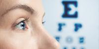 ojos de mujer revisión de la vista